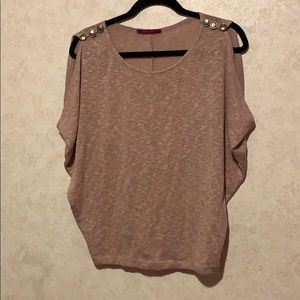Julies closet cold shoulder button sweater